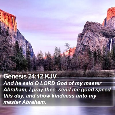Genesis 24:12 KJV Bible Verse Image