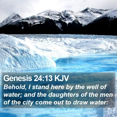 Genesis 24:13 KJV Bible Verse Image