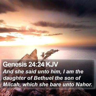 Genesis 24:24 KJV Bible Verse Image