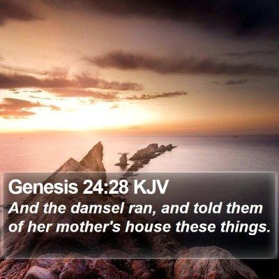 Genesis 24:28 KJV Bible Verse Image