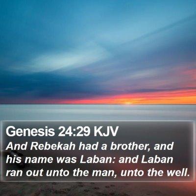 Genesis 24:29 KJV Bible Verse Image