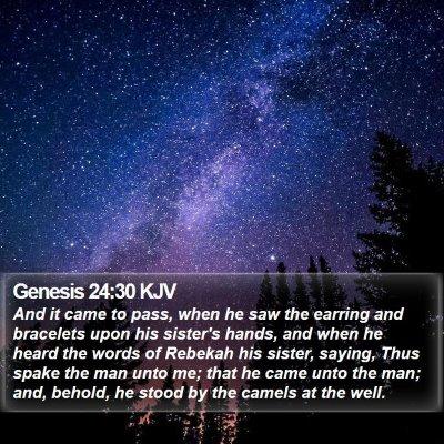 Genesis 24:30 KJV Bible Verse Image