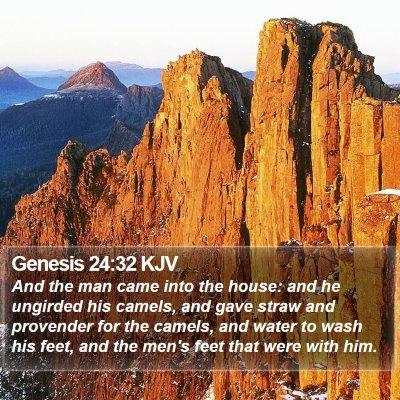 Genesis 24:32 KJV Bible Verse Image