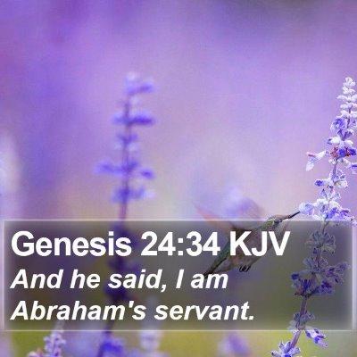 Genesis 24:34 KJV Bible Verse Image