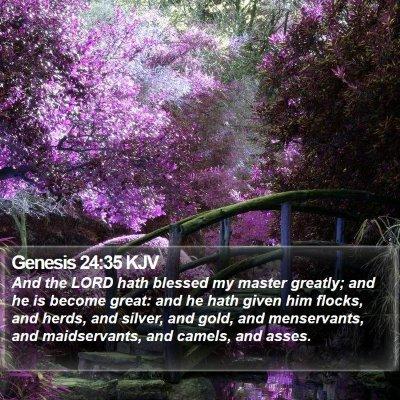 Genesis 24:35 KJV Bible Verse Image