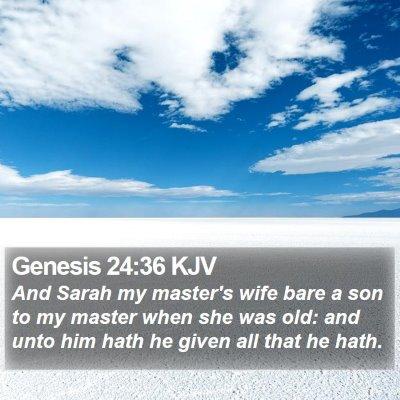 Genesis 24:36 KJV Bible Verse Image