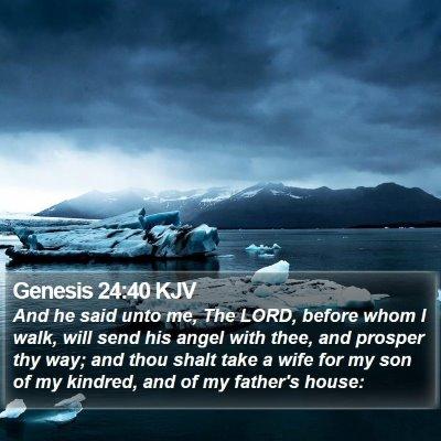 Genesis 24:40 KJV Bible Verse Image