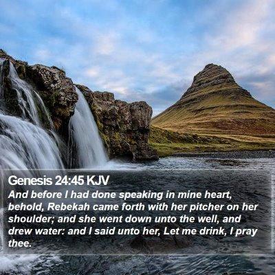 Genesis 24:45 KJV Bible Verse Image