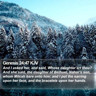 Genesis 24:47 KJV Bible Verse Image