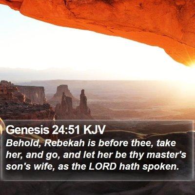 Genesis 24:51 KJV Bible Verse Image