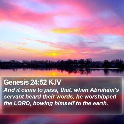 Genesis 24:52 KJV Bible Verse Image