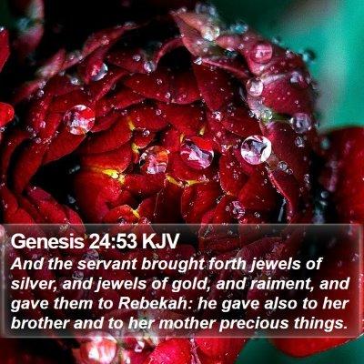 Genesis 24:53 KJV Bible Verse Image