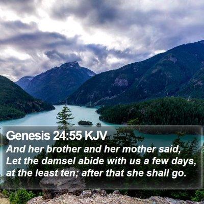 Genesis 24:55 KJV Bible Verse Image