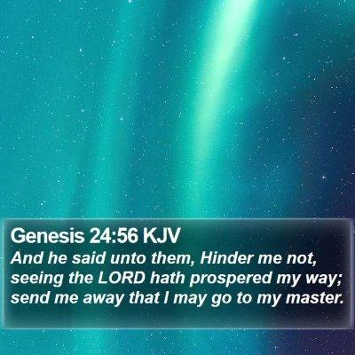 Genesis 24:56 KJV Bible Verse Image