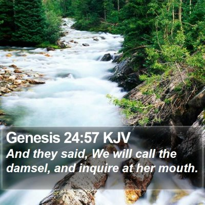 Genesis 24:57 KJV Bible Verse Image