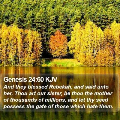 Genesis 24:60 KJV Bible Verse Image