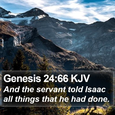Genesis 24:66 KJV Bible Verse Image