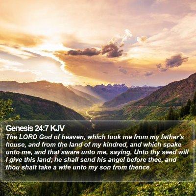 Genesis 24:7 KJV Bible Verse Image