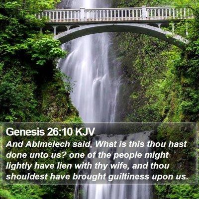 Genesis 26:10 KJV Bible Verse Image
