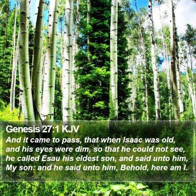 Genesis 27:1 KJV Bible Verse Image
