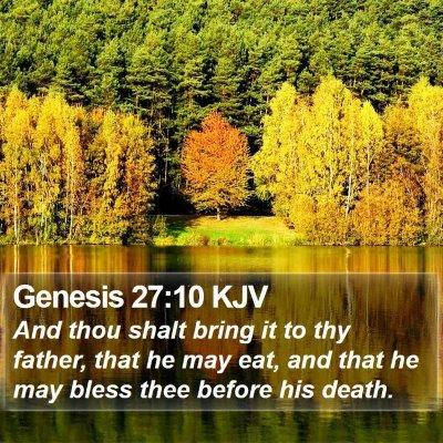 Genesis 27:10 KJV Bible Verse Image