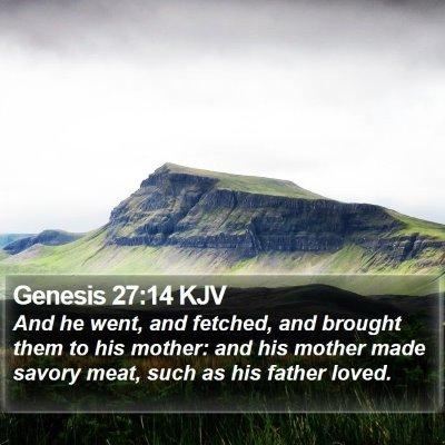 Genesis 27:14 KJV Bible Verse Image