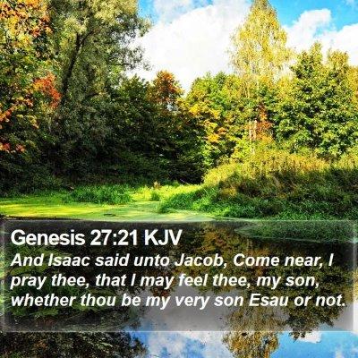 Genesis 27:21 KJV Bible Verse Image