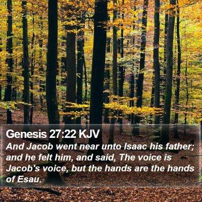 Genesis 27:22 KJV Bible Verse Image