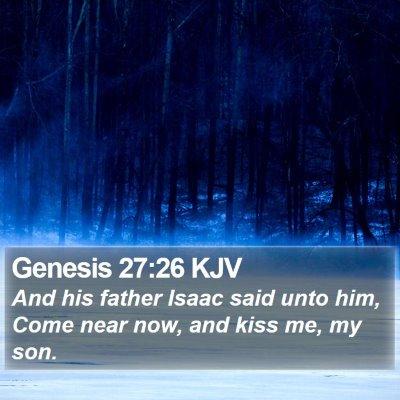 Genesis 27:26 KJV Bible Verse Image