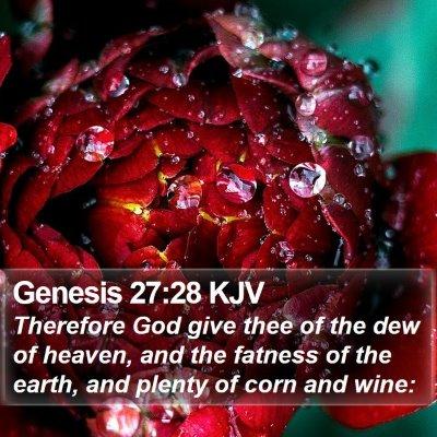 Genesis 27:28 KJV Bible Verse Image