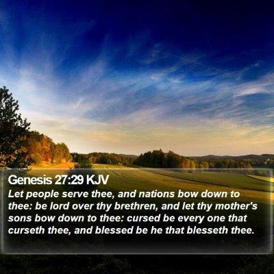 Genesis 27:29 KJV Bible Verse Image