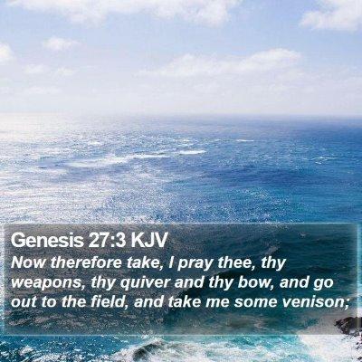 Genesis 27:3 KJV Bible Verse Image