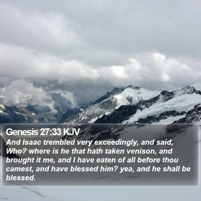 Genesis 27:33 KJV Bible Verse Image
