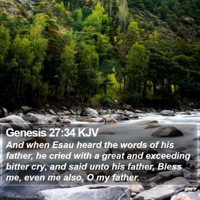 Genesis 27:34 KJV Bible Verse Image