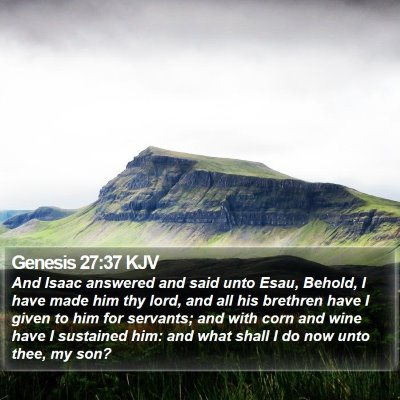 Genesis 27:37 KJV Bible Verse Image