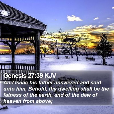 Genesis 27:39 KJV Bible Verse Image