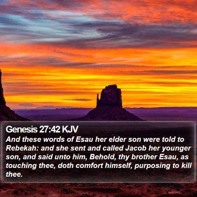 Genesis 27:42 KJV Bible Verse Image