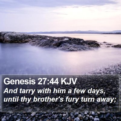 Genesis 27:44 KJV Bible Verse Image