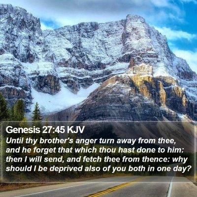 Genesis 27:45 KJV Bible Verse Image