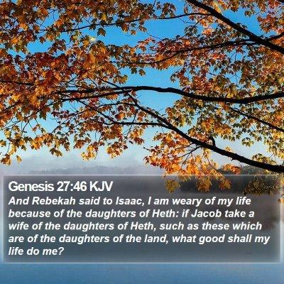 Genesis 27:46 KJV Bible Verse Image