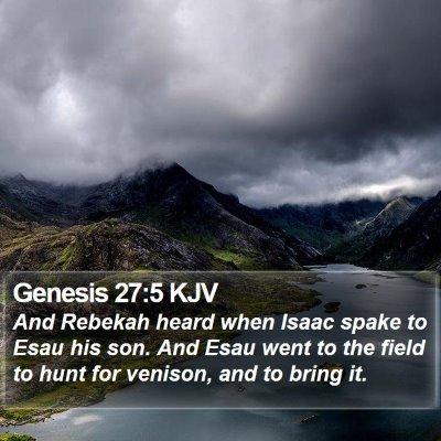 Genesis 27:5 KJV Bible Verse Image