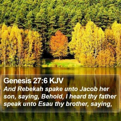 Genesis 27:6 KJV Bible Verse Image