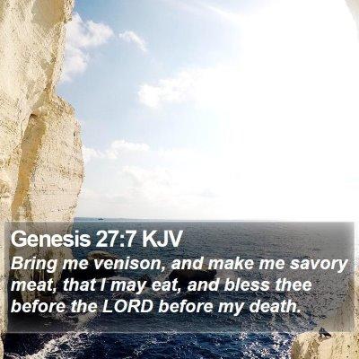 Genesis 27:7 KJV Bible Verse Image