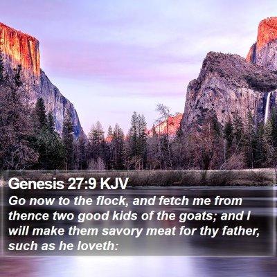 Genesis 27:9 KJV Bible Verse Image