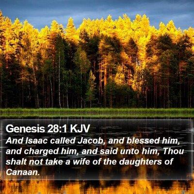 Genesis 28:1 KJV Bible Verse Image