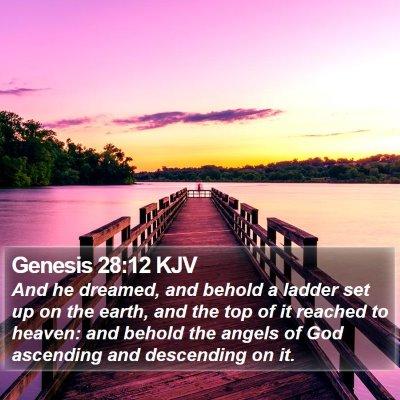 Genesis 28:12 KJV Bible Verse Image