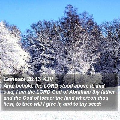 Genesis 28:13 KJV Bible Verse Image