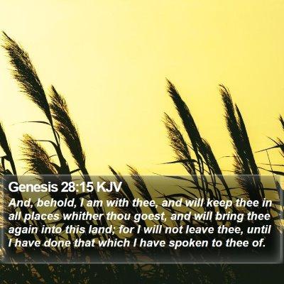 Genesis 28:15 KJV Bible Verse Image
