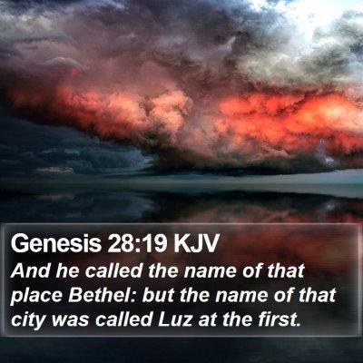 Genesis 28:19 KJV Bible Verse Image