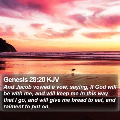 Genesis 28:20 KJV Bible Verse Image